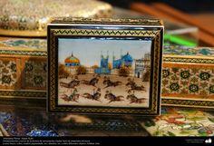 Artesanía Persa- Jatam Kari (Marquetería y Ornamentación de objetos) - 57 | Galería de Arte Islámico y Fotografía