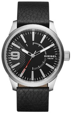 Diesel Rasp - Men Wrist Watch on YOOX. The best online selection of Wrist Watches Diesel. YOOX exclusive items of Italian and international designers - Secure payments Black Leather Watch, Grey Leather, Tommy Bahama, Diesel Watch, Watch Model, Apple Watch Bands, Stainless Steel Case, Quartz Watch, Watches For Men