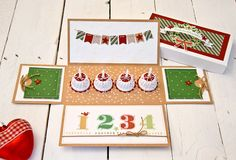 free template advent explosion box (one candle for each Sunday in Advent)