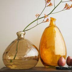 Recycled Glass Earthtone Balloon Vases