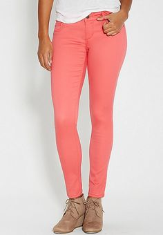 DenimFlex™ jegging in coral pop | maurices