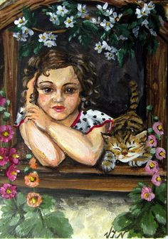 #aceo #girls #art #cat #kitten #amazing #smile #old #fashion #style #flowers #hair #awesome #nice #eyes #loveit #colorful #beauty #sweat #face #tree #green #new