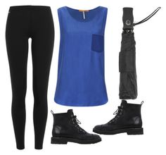 """""""Humid Rainy Day"""" by jjwahlberg ❤ liked on Polyvore featuring Polo Ralph Lauren, BOSS Orange, Totes and Giuseppe Zanotti"""