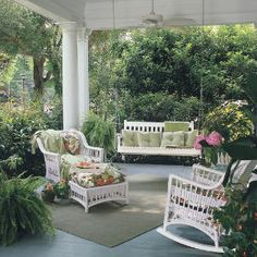 Kick Back on a Pretty Porch - good article on front porch decorating from Southern Living
