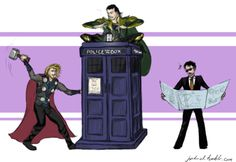 The TARDIS - If Thor can't dent it and Tony can't explain it, maybe Loki knows what it is?
