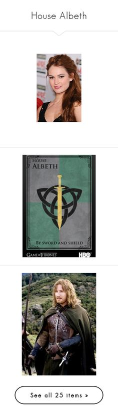 """House Albeth"" by ltspork ❤ liked on Polyvore featuring lily james, lotr, outlander, lord of the rings, people, claire holt, tops, models, nastya kusakina and brown top"