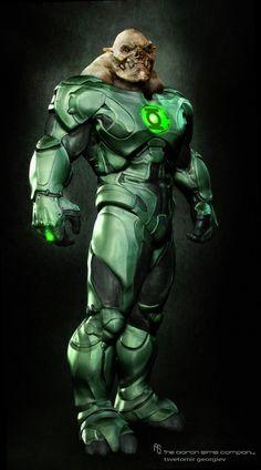 Green Lantern. Kilowog   Zbrush