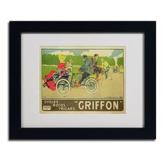 'Griffon Cycles & Motors' by Walter Thor Matted Framed Vintage Advertisement
