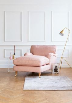 One of our bestsellers, the Alwinton range includes sofas, corner sofas, chaises and a chaise chair. Super-comfortable yet extremely smart. Chaise Chair, Chaise Lounge Bedroom, Living Room Decor, Bedroom Decor, Quality Sofas, Traditional Sofa, Pink Home Decor, Sofa Styling, Comfortable Sofa
