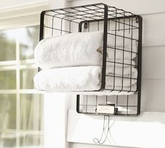 Kellan Cubby with Single Hook | Pottery Barn - a few of these for the pool area
