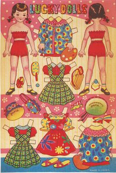 From the 1940s or 1950s, I believe. #paper Dolls