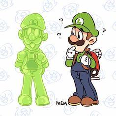 Luigi Mansion, Luigi's Mansion 3, Luigi's Haunted Mansion, Mario Fan Art, Super Mario Art, Metroid, Game Character, Character Design, Luigi And Daisy