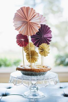 DIY: Accordion Pinwheel Cake Top - Project Wedding