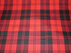 Menzies Red Tartan FabricBy Yard Black Red Tartan Plaid