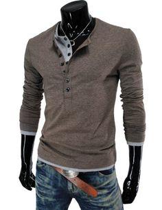 (ザ・リース) (VT09) メンズ カジュアル ロング スリーブ レイヤード スタイル ボタン Tシャツ ブラウン Medium TheLees(ザーリース) http://www.amazon.co.jp/dp/B00D1FXBDO/ref=cm_sw_r_pi_dp_ejH0ub0K551H1