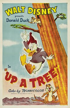 Theatrical poster of Donald Duck in Up a Tree.