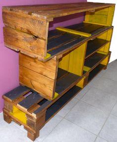 meuble chaussures fabriqu partir de palettes en bois. Black Bedroom Furniture Sets. Home Design Ideas