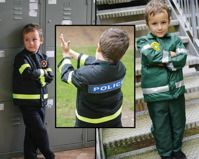 3 in 1 Policeman/Fireman/Paramedic Dressing Up Outfit. Kids Costumes ...  sc 1 st  Pinterest & A Medieval costume with chainmail effect tunic gold motif and mock ...