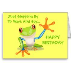 Cute Frog Funny Animal Kids Happy Birthday Card 3 60 More