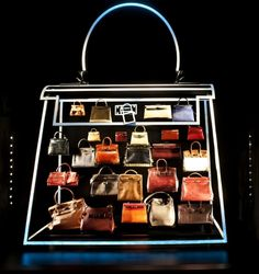 "HERMES : Neon Kelly bag ""created by Alexandra Plat for HERMES 175 YEAR ANNIVERSARY"""