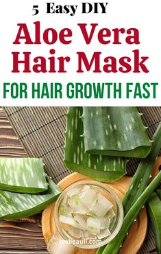 5 DIY Aloe Vera Hair Mask For Growth and Shine (How To Use)