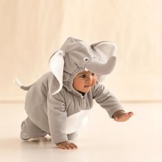 Too cute little elephant Halloween costume for baby.