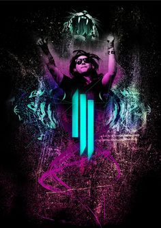 Skrillex Fan Art 2015 HASIE & THE ROBOTS johanjohnston.com