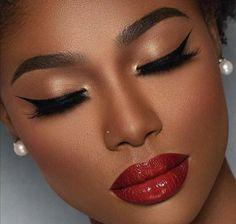Makeup for black women Natural Makeup For Black Women BeautyTipsTricks black Makeup women Glam Makeup, Flawless Makeup, Girls Makeup, Gorgeous Makeup, Bridal Makeup, Beauty Makeup, Makeup Style, Natural Makeup For Brown Eyes, Dark Skin Makeup