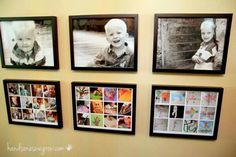 Awesome way to display art projects.