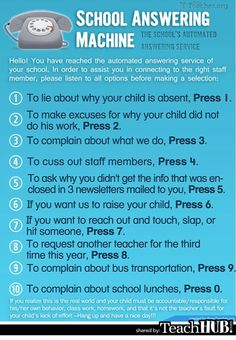 "This is funny but we need to add number 11:  To say great things about your school counselor, press ""star"".  :)"