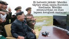 Supreme Leader Kim Jong-Un gonna take over the world. Dont make joke about Supreme Leader! Would not be surprised if Kim Jong-Un actually liked the move.it was pretty funny. Best Memes, Funny Memes, Hilarious, Military Humor, New Movies, Funny Photos, Comedy, Interview, Guys