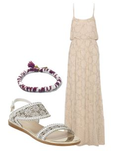 Isabel Marant bracelet, lagarconne.com  Needle & Thread maxi dress, net-a-porter.com  Nicholas Kirkwood sandals, barneys.com