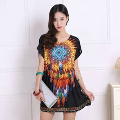 5772d9c9 new 2017 T Shirt Dress Plus Size Women Printing mini dress short sleeve  Loose Casual TEES Tops fashion elegant dresses tunic
