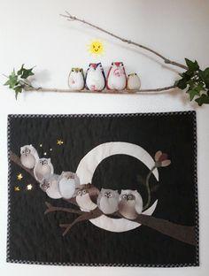 김영희 - 부엉이~♡ 카페에... : 카카오스토리 Japanese Patchwork, House Quilts, Quilted Bag, Applique Patterns, Quilting Projects, Diy Crafts, Embroidery, Purses, Sewing