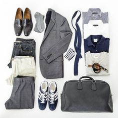 Example of a traveling pack for the businessmen.