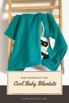 Minky Toddlers Blanket, Kids Blanket, Fleece Baby boy Blanket, Fun Soft Cuddly Superhero Blanket, New Baby Shower Gift, Cute Bunny Blanket