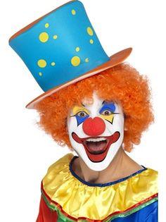 Clown Top Hat & Wig