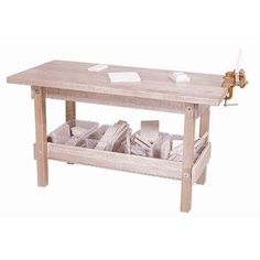 -Wood Designs Workbench with Trays and Wood