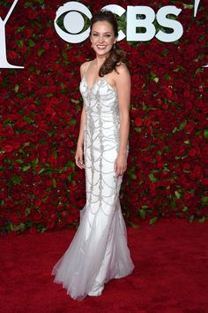 Actress Laura Osnes attends the 70th Annual Tony Awards at The Beacon Theatre on June 12, 2016 in New York City.