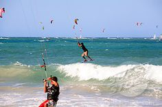 Cabarete Beach (kitesurfing) - Dominican Republic-- what my sister does EVERY day of her life <3