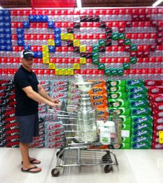 Just picking up a few things at the store (Los Angeles Kings Captain #23 Dustin Brown in Ithaca NY with the Stanley Cup)