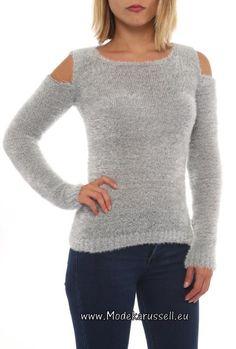 Damen Cut Out Pullover Vivien Flieder