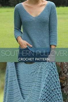 Southern pullover crochet pattern kay krochets cool with wool sweater odd mollyodd molly T-shirt Au Crochet, Pull Crochet, Mode Crochet, Crochet Shirt, Crochet Woman, Crochet Cardigan, Crochet Crafts, Crochet Hooks, Crochet Projects