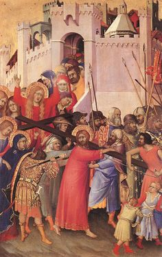 SIMONE MARTINI (1285 -1344) -  The Carrying of the Cross - 1333. Musée du Louvre, Paris.