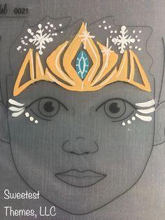 Frozen princess crown face painting