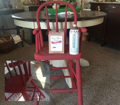 """Glazing with Plutonium™ Spray Paint color: Earth Translucent over Real Milk Paint color: Bright Red. Perfect combo for the primitive look I was looking for on this chair. Could I have created the same look with a standard glaze, yes but not as fast."" - @redposie"