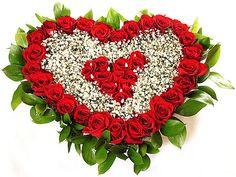 Доставка на сърца от цветя - Podari-Buket