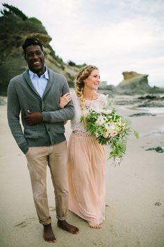 Engagement Shoot at Laguna Beach.  Floral by Kaleb Norman James Design.