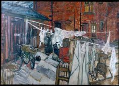 John Bratby painting from Bagnall's Retreat
