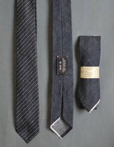 Denim Selvedge Tie, just think...old jeans new ties!